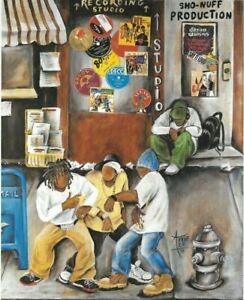 """HIP HOP"" by Annie Lee / Framed African American Art Print / 11 x 14"