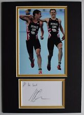 New listing Alistair Brownlee Signed Autograph A4 photo display Triathlon Olympics AFTAL COA