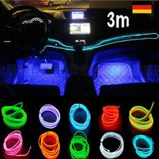 3m EL Leisten Licht Strang für Auto Inneraum Ambiente Beleuchtung Rot Blau SALE
