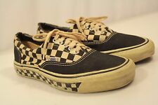Vintage OG Vans Shoes Men Size 9.5 USA Old School Checkers-Sole Low Top