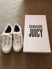 Juicy Couture Trainers Shoes Pink Canvas Shoes Converse Style Includes Box UK4