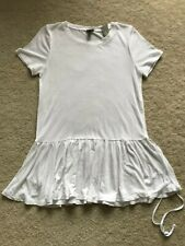 NWT NEW J Crew long top tunic short sleeves white S SMALL 4 6 100% lyocell