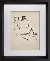 "Marino MARINI Lithograph SIGNED Ltd EDITION ""Forme "" 1942  +FRAME 20x24in"