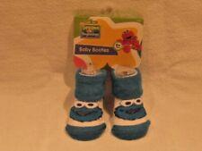 Sesame Street Beginnings Baby COOKIE MONSTER Baby Booties