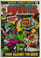 DEFENDERS #3 (Marvel Comics Book 1972 Series) Four against the Gods! Undying one