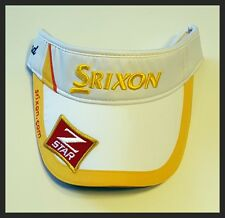 SRIXON Z STAR MENS PEAK CAP - ADJUSTABLE - WHITE/YELLOW - BRAND NEW