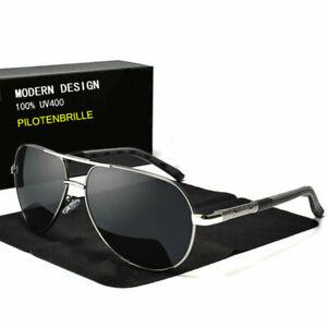 Aluminium Herren Sonnenbrille Auto Polarisiert UV400 Schutz Fahren Pilotenbrille