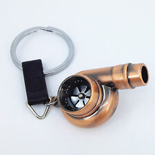 Copper TURBO BEARING KEYCHAIN METAL WHISTLE KEY RING/CHAIN BOOSTED SPOOLING Q1