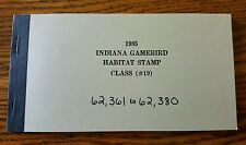 Vintage Indiana Duck Stamps Indiana Game bird Habitat Stamp (Class #19) 1985
