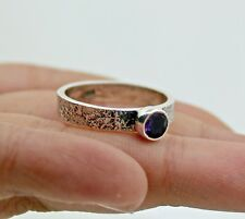 Solid 925 Sterling Silver Rings Natural Iolite Gemstone Jewelry3.5 Gm Us 7.75