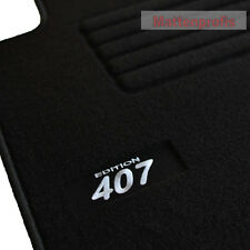 Peugeot 407 + 407 SW ab Bj.05/2004 - Velours Logo Fußmatten Autoteppiche sw