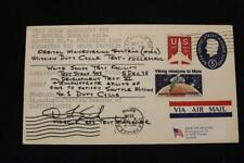 SPACE COVER 1976 ORBITAL MANEUVERING SYS MISSION DUTY CYCLE TEST AUTOGRAPH (5644