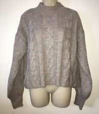 Boohoo Multicoloured Cable Knit Jumper Size Size 10