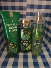 Bath And Body Works Vanilla Bean Noel Body Cream Shower Gel and Fragrance Mist