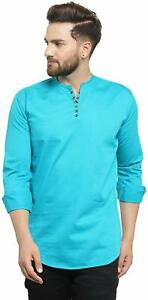 Mens Casual Cotton Shirt Slim Fit Kurta Stylish kurta Full sleeve Kurta