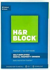 H&R Block Premium Federale & Stato 2017 Tasse Software Auto Impiegato Property