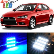 8 x Premium Blue LED Lights Interior Package for 07-17 Mitsubishi Lancer + Tool