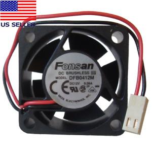 Fonsan 40mm x 20mm 12V 2-Pin Ball Bearing Fan