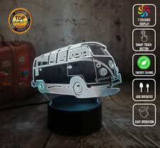 FUSCA VOLKSWAGEN KOMBI VAN 3D Acrylic LED 7 Colour Night Light Touch Table Lamp