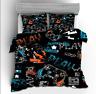 3D Gamer Video Games Doona Duvet Quilt Cover Bedding Set PillowCase Double
