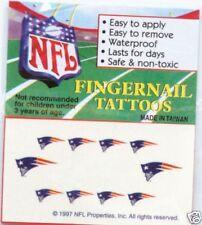 New England Patriots Football Fingernail Tattoos Nail Art Decal Set NEW