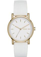 NEW DKNY NY2340 Soho White Leather Strap Women's Watch