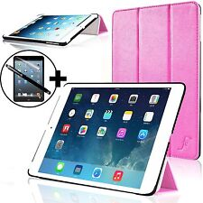 Pelle Rosa Smart Custodia Pieghevole per Apple iPad Air + stilo &