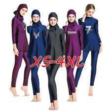Ladies Long Sleeve Full Cover Muslim Islamic Costume Modest Swimwear Burkini