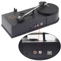 USB Vinyl Turntable Record Player 33/45RPM LP to MP3 Converter Mini Phonograph