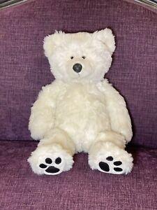 Vintage Build a Bear Polar Bear 1997  Plush Faux Leather Paws Stuffed Animal Toy