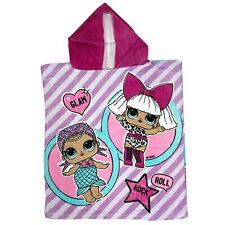 LOL SURPRISE GLAM PONCHO TOWEL HOODED COTTON KIDS GIRLS