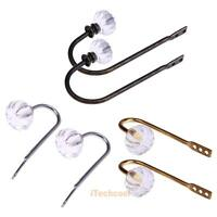 2PCS Luxury Crystal Glass Curtain Holdback Wall Tie Back Hooks Hanger Holder