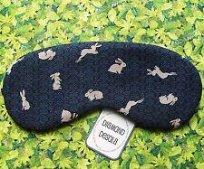 Eye Sleep Mask Bunny Rabbits Cotton Travel, Camp Festival Gift, Blackout UK Made