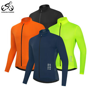 Men's Cycling Jersey Long Sleeve Full Zipper Tops MTB Road Team Bike Sportswear