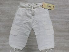 NEW Da Nang Silk Blend Woven Crop Pants in White Size SMALL CHA19971489 #1