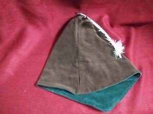 Halloween Robin Hood hat or medieval renaissance reenactment cosplay