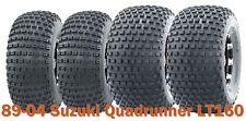 89-04 Suzuki Quadrunner LT160 Full Set ATV Tires 20x7-8 & 22x11-8 4PR