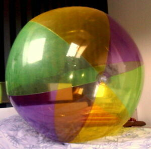 "72""  Amazing MEGA BUBBLE Transparent Beach Ball HUGE Vintage Pool Toy VERY RARE!"