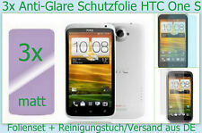 3 x HTC One S Handy Anti reflex Glare Display Schutz Folie matt Screen PROTECTOR