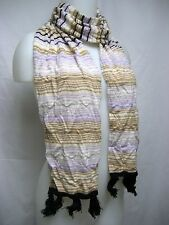 ITALY MISSONI Foulard Lana Merino Wool 9x66 Women Long Scarf Lady Stylish Gift