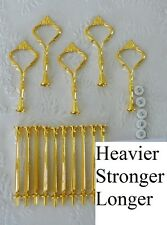 Cake Stand Fittings HEAVY 5 x 3 Tier GOLD CROWN Centre Plate Rods Handle