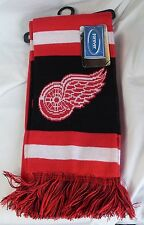 "NWT NHL 2012 TEAM STRIPE ACRYLIC SCARF 64""x7"" - DETROIT RED WINGS"