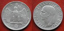 MONETA COIN REGNO ITALIA RE VITTORIO EMANUELE III° 1 LIRA 1936 (IMPERO) NICHELIO
