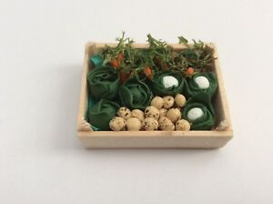 Vegetable Box / Crate  Handmade. Dolls House Miniatures .1:12 th Scale. New