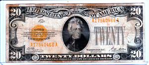 VERY RARE 1928 FRN $20 Twenty Dollar GOLD CERTIFICATE GOLD ON DEMAND GOLD SEAL