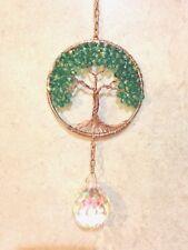 Crystal Jade Sun Catcher Tree Of Life,Gemstone Crystal Window Suncatcher Prism
