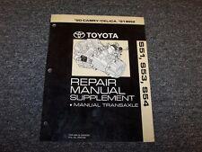 1991 Toyota MR2 Coupe S54 Transmission Shop Service Repair Manual 2.0L 2.2L