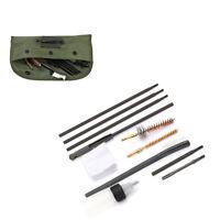Hunting 10Pcs Cleaning Kit Rod Brush For Rifle Gun with Nylon Bag