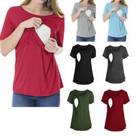 Pregnant Women Maternity Nursing Tops Breastfeeding Blouse T-Shirt Multi-Colors