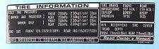 KAWASAKI ZXR750H ZXR750H1 ZXR750H2 TiRE TYRE INFORMATION CAUTION WARNING DECAL